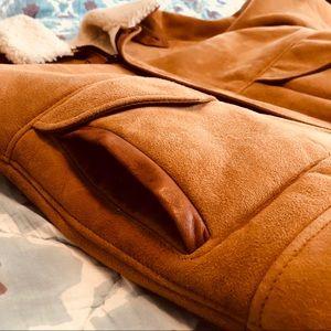 Vintage Banana Republic shearling suede jacket